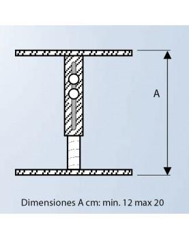 Diagrama soporte para falso techo de 12 cm a 20 cm