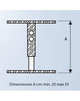 Diagrama soporte para falso techo de 20 a 35 cm