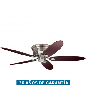 Ventilador de techo Hunter Low Profile color cromo satinado