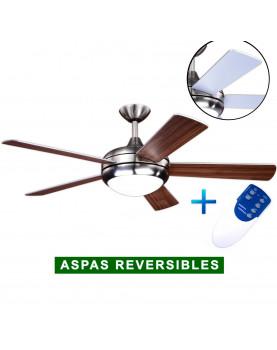 Ventilador de techo con luz AireRyder FN75539 blanco Pino/ níquel satinado