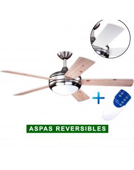 Ventilador de techo con luz AireRyder FN75537 blanco Pino/ níquel satinado