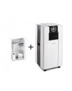 Aire acondicionado movil para ambientes hasta 62 m2 Trotec PAC 4700 más cerramiento de ventana