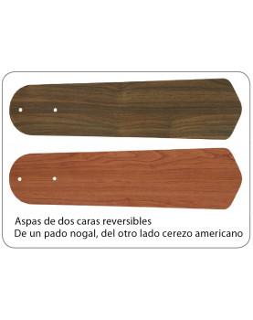 Aspas de dos caras del ventilador de techo CasaFan 9513287 Santa Pepeo con luz y mando