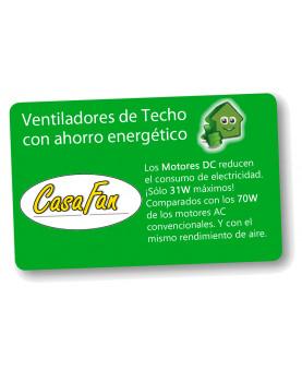ahorro energía Ventilador de techo con luz CasaFan 92250351 ECO NEO II 152 negro o teca/ cromo