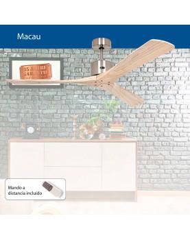 Abanico de techo de madera con mando a distancia