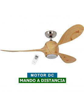 Ventilador de techo con luz Eco Fiore con mando a distancia