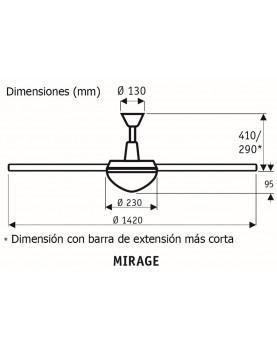 Esquema del ventilador de techo CasaFan 9313219 Mirage