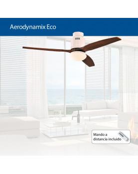 abanico para el techo AERODYNAMIX con motor de cosumo mínimo. Bajo consumo