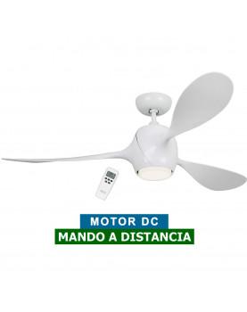 Ventilador de techo con luz LED Eco Fiore blanco