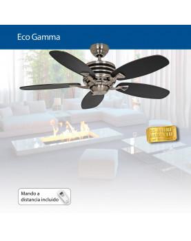 ventilador de techo con luz y mando a distancia Eco Gamma de bajo consumo