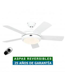 Ventilador de techo con luz CasaFan 9510561 TITANIUM blanco satinado / blanco
