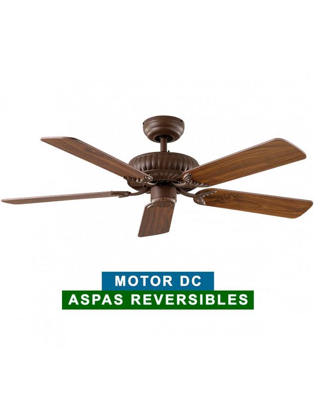 Ventilador de techo casafan 5513224 eco imperial 132 aw roble antiguo o nogal - Ventiladores de techo antiguos ...