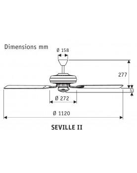 esquema del ventilador para techo Hunter Seville II