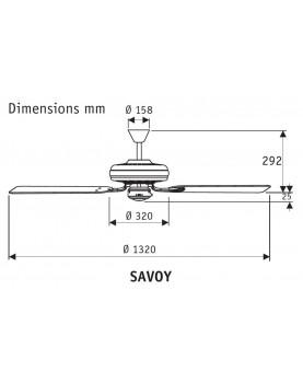 De Techo Savoy Cromo 24521 Arce Satinado Hunter O Ventilador Cereza PkZiXu