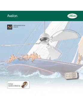 Ventilador de techo Hunter con estilo velero detalles de marinero