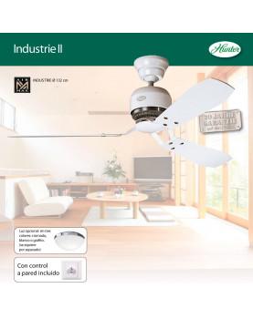 ventilador de techo con interruptor de pared Hunter 24545 Industrie II