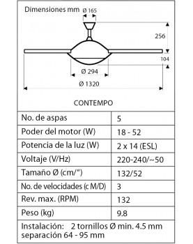 esquema de la lámpara con ventilador