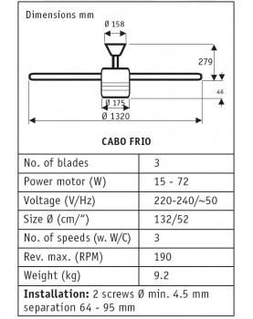 esquema del ventilador para techo Hunter Cabo frío