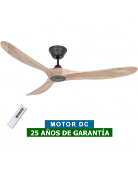 Ventilador de techo CasaFan 315218 Eco Genuino madera maciza color nogal con mando a distancia