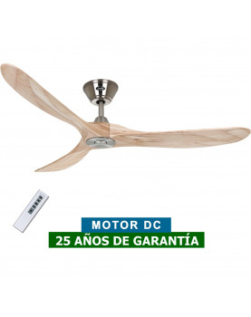 Ventilador de techo CasaFan 315216 Eco Genuino madera maciza color nogal con mando a distancia