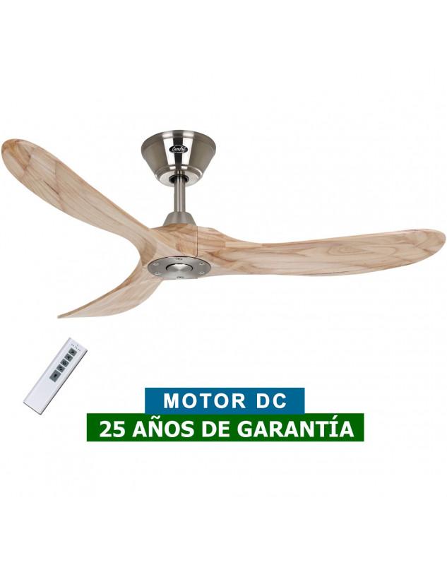 Ventilador de techo CasaFan 312215 Eco Genuino madera maciza color natural con motor bajo conusmo