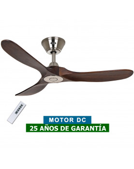 Ventilador de techo CasaFan 312215 Eco Genuino madera maciza color nogal