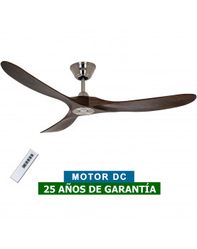 Ventilador de techo CasaFan 315215 Eco Genuino madera maciza color nogal con mando a distancia