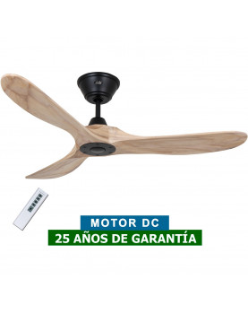 Ventilador de techo CasaFan 312218 Eco Genuino madera maciza color nogal con mando a distancia