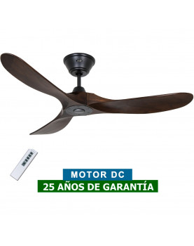 Ventilador de techo CasaFan 312217 Eco Genuino madera maciza color nogal con mando a distancia