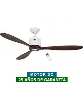 Ventilador de techo CasaFan 313249 Aeroplan Eco aspas Nogal motor blanco