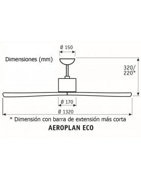 Esquema ventilador de techo CasaFan 313251 Aeroplan Eco motor DC