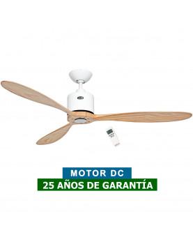 Ventilador de techo CasaFan 313251 Aeroplan Eco aspas de madera maciza y motor blanco