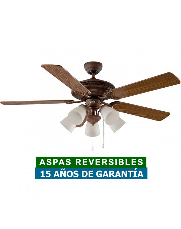Ventilador de techo casafan 513233 centurion 132 aspas de roble antiguo o nogal - Ventiladores de techo antiguos ...