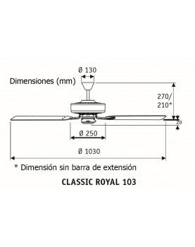 Esquema ventilador de techo 510313 classic royal 103