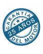 25 años de garantia para los ventilador para techo CasaFan 923125 ECO NEO II 180