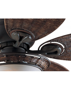ventilador de techo con estilo tropical Hunter 24457 CARIBBEAN BREEZE