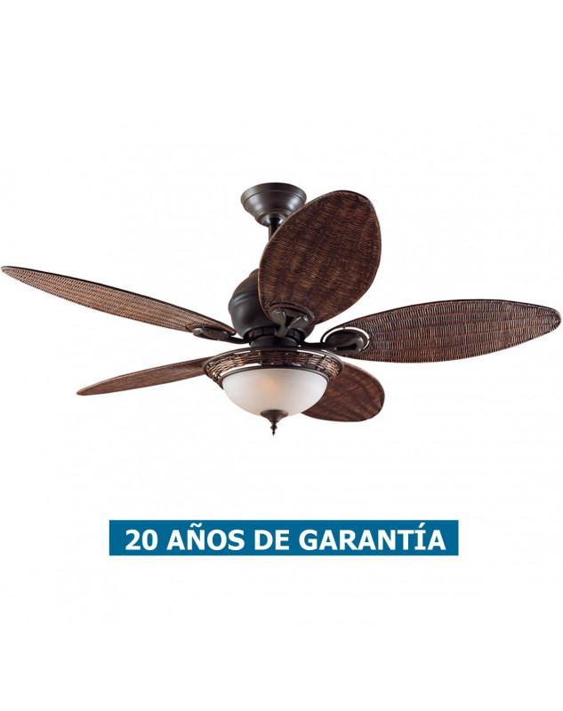 Ventilador de techo con luz Hunter CARIBBEAN BREEZE de estilo caribeño