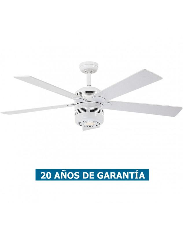 Ventilador de techo con luz CasaFan 513219 ALU de estilo retro
