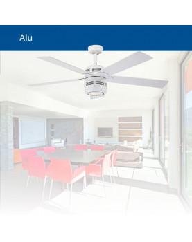 Ventilador para techo con luz CasaFan de estilo retro 513219 ALU
