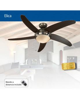Ventilador para techo con luz ELICA 132 BN-WN