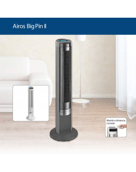 sistema de ventilador de torre negro y blanco AIROS BIG PIN II