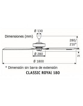 Esquema ventilador de techo 518014 classic royal 180