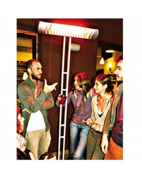 Calefactor halógeno para bares, restaures, locales