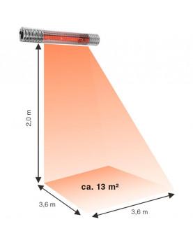 área de calentamineto Calefactor halógenos por infrarrojo CasaTherm