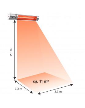 Calefactor halógenos hasta 11 metros