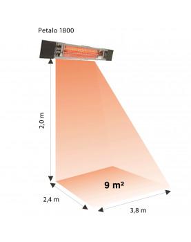 calefactor para exteriores  PETALO 1800