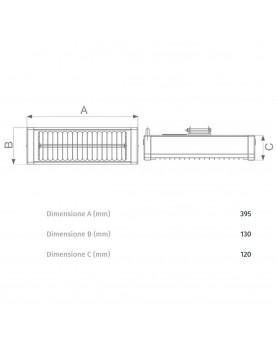 esquema del Calefactor halógeno por infrarrojo