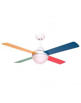 Ventiladores de techo de colores pequeños