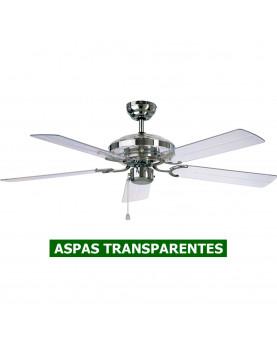Ventilador de techo 513234 Acrylic aspas acrilicas transparentes.