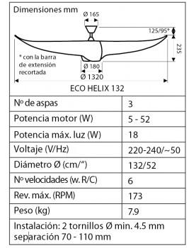 esquema del Ventilador de techo con luz 313254